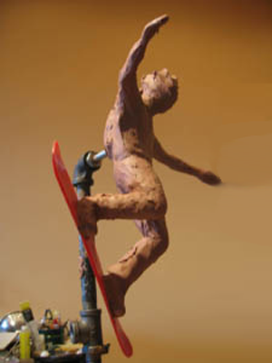 ... Bronze Tabletop Snowboarder Sculpture, Snowboarding Award Trophy,  Custom Designed Trophies By Tom White, ...